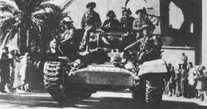 Britischer Einmarsch in Tripolis