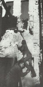 Rotarmisten in Stalingrad