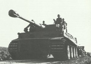Tiger-Panzer in Afrika