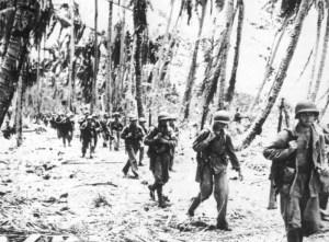 US-Marinesoldaten auf dem Marsch