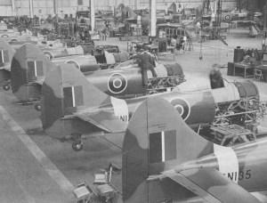 Endfertigung der Hawker Tempest in Langley