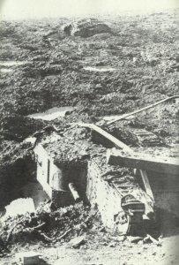 Tankwracks im Kampfgelände