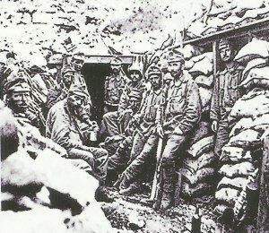 Stellung in den Alpen 1918