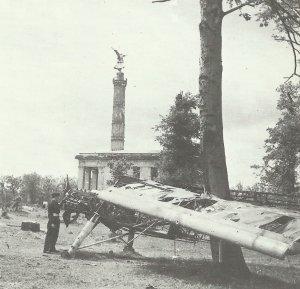 zerschossenenen Überreste von Hanna Reitsch Storch