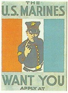 Rekrutierungsplakat für das US-Marine-Korps