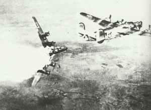 B-24 von Flak getroffen