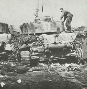 abgeschossener deutscher PzKpfw IV