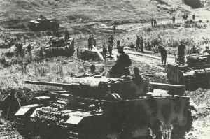 Bereitstellung einer deutschen Einheit mit PzKpfw III