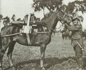 Vickers-MG bei der Kavallerie