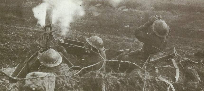 Vickers-MG in der Luftabwehr
