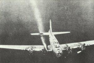 B17-Abschuss über dem Meer