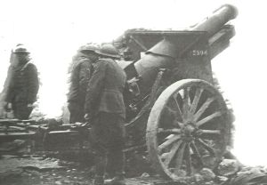 amerikanische 155-mm-Haubitze Maas-Argonnen-Offensive