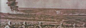 Front mit Blick von deutschen Schützengräben