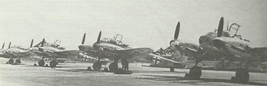 Reihe von Me 410 Zerstörern