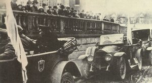 Ankunft der deutschen Waffenstillstands-Delegation