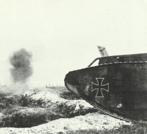 erbeuteter britischer Tank