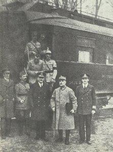 alliierten Bevollmächtigten bei der Unterzeichnung des Waffenstillstands