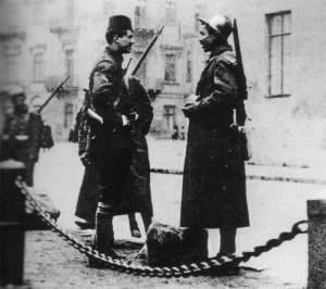 Französische Kolonialtruppen in Odessa