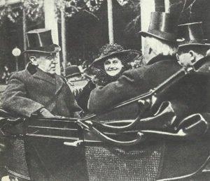 US-Präsident Wilson mit Ehefrau.