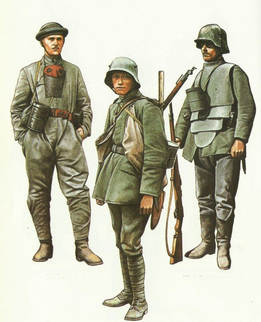 Deutsche Uniformen 1916-18