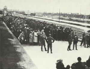 Selektionsrampe des Vernichtungslager Auschwitz-Birkenau