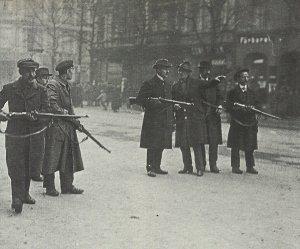 Schützenlinie aufständischer Arbeiter