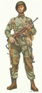 US-Sergeant 4. Grad der Luftlande-Truppen