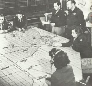 Gefechtsstand auf einem taktischen US-Bomberstützpunkt