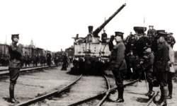 Treffen alliierter Truppen bei Verst 555 an der Wolga-Front