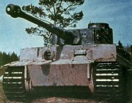 Farbfoto eines Tiger I