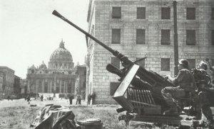 Deutsches Flak-Geschütz  Rom