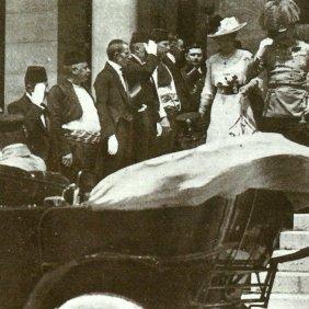 Franz Ferdinand verlässt Rathauses Sarajewo