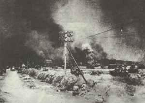 Kanadische Truppen nahe Caen.
