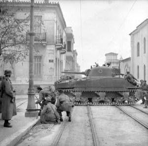 Britische Truppen Athen 1944