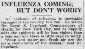 'Die 'Grippe' kommt - macht Euch keine Sorgen'