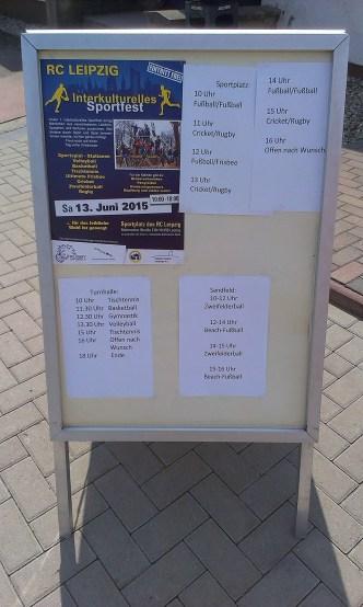 Der Bürgerverein Gohlis e. V. Die Initiative Weltoffenes Gohlis beim 1. Interkulturellen Sportfest in Leipzig, Samstag, 13. Juni 2015. Interkulturellen Sportfest in Leipzig, Samstag, 13. Juni 2015