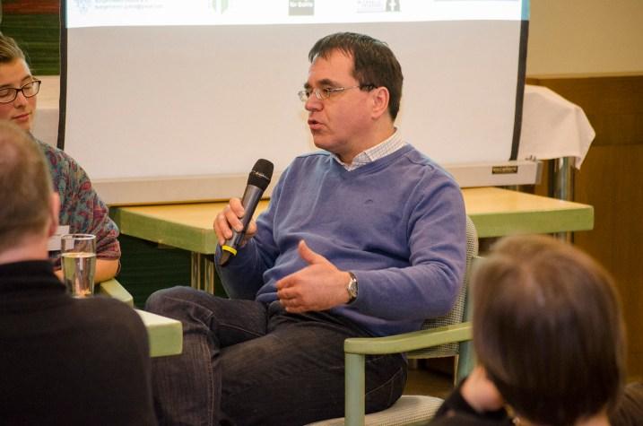 Michael Wagner, Initiative Dialoge für Gohlis, bei der Podiumsdiskussion