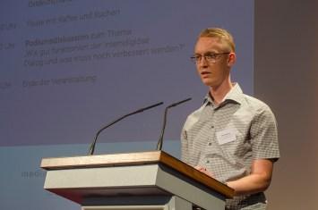 Einführende Worte und Begrüßung der TeilnehmerInnen von Peter Niemann, Bürgerverein Gohlis e. V.; Foto: Andreas Reichelt