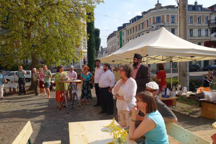 Zweites Interreligiöses Dankfest auf dem Leipziger Kirchplatz; Foto: Peter Niemann