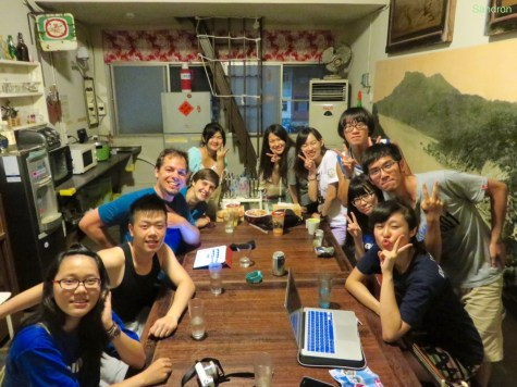 Hostelgäste im Old Taiwan