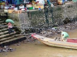 Markt am Mekong