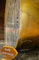 Die Fußsole vom liegenden Budda