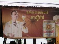 deutsches Bier in Kambodscha (diese Uhr!)