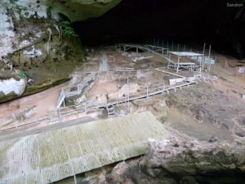 Ausgrabungsstätte in der Great Cave. Hier kann man etwas sehen, wie riesig die Höhle ist!