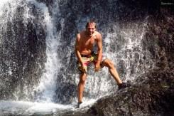 Nach dem Vulkan gab es einen Stop am Wasserfall.