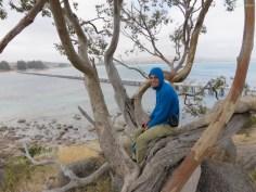 Mit dem langen Steg zur Insel im Hintergrund