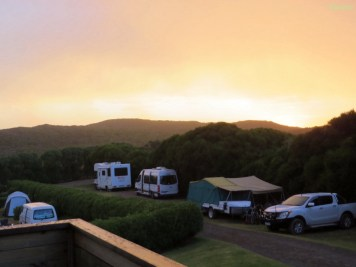 Schöner Sonnenuntergang... nach der ersten Gewitterfront :-)