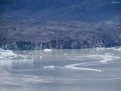 Der Gletscher in der Ferne