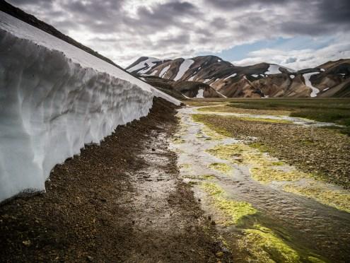 Schneeschmelze in Landmannalaugar