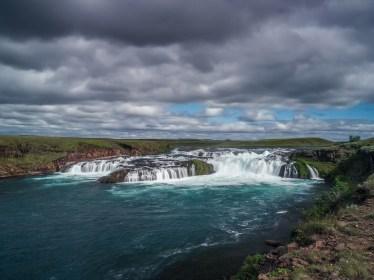 Wasserfall des Flusses Ytri Ranga bei Hella